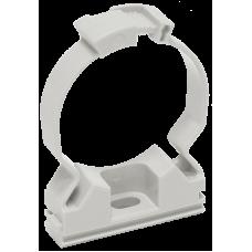 Крепёж-клипса для трубы D16мм серый фиксатор IEK (100)