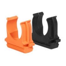 Крепёж-клипса для трубы D16мм чёрный U-Plast (100)