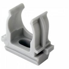 Крепёж-клипса для трубы D16мм серый TDM (10)