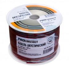 Кабель акустический 2х0.35 красно-черный Proconnect (100/800)