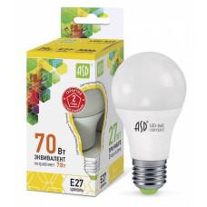 Лампа диодная A60 7Вт Е27 3000К 630Лм ASD (10)