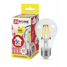 Лампа филамент A60 5Вт Е27 3000К 450Лм InHome (10)