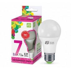 Лампа диодная A60 7Вт Е27 6500К 630Лм ASD (10)