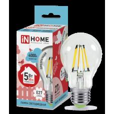 Лампа филамент A60 5Вт Е27 4000К 450Лм InHome (10)