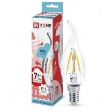 Лампа филамент свеча на ветру 7Вт Е14 4000К 630Лм InHome (10)