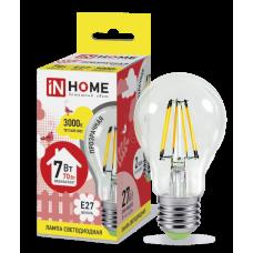 Лампа филамент A60 7Вт Е27 3000К 630Лм InHome (10)