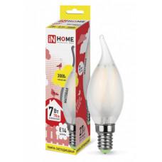 Лампа филамент свеча на ветру 5Вт Е14 3000К 450Лм InHome (10)
