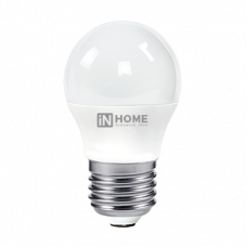 Лампа диодная шар G45 8Вт Е27 6500К 600Лм InHome (10)