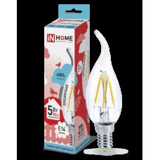 Лампа филамент свеча на ветру 5Вт Е14 4000К 450Лм InHome (10)