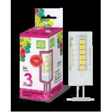 Лампа светодиодная LED-JC-standard 3Вт 12В G4 6500К 270Лм ASD