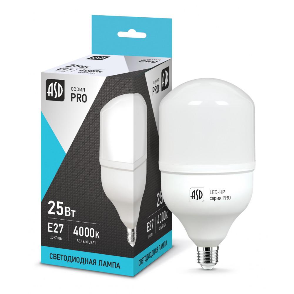 Лампа диодная HP 25Вт Е27 4000К 2250Лм d80x144мм ASD (50)
