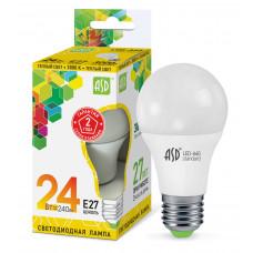 Лампа диодная A65 24Вт Е27 3000К 2160Лм ASD (10)