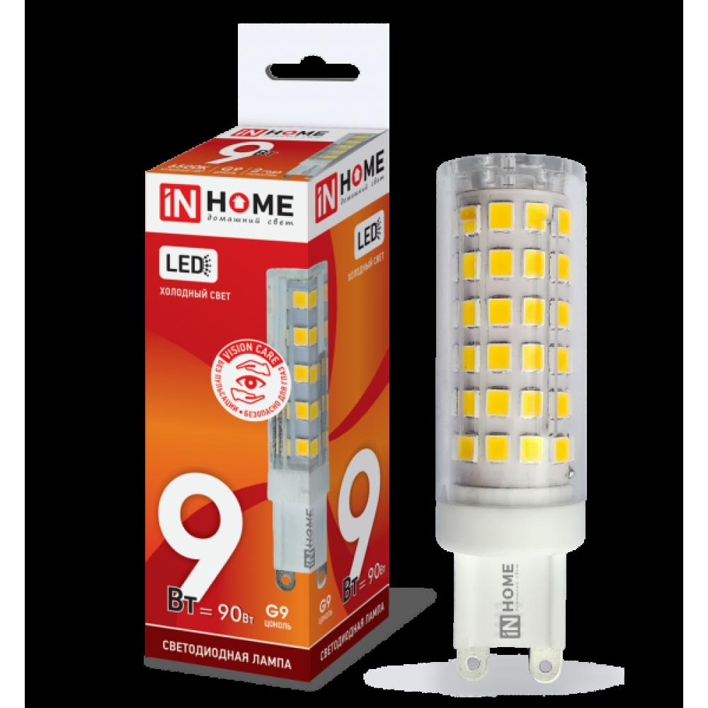 Лампа диодная G9 9.0Вт 4000К 810Лм InHome (20)