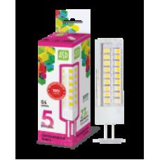 Лампа светодиодная LED-JC-standard 5Вт 12В G4 6500К 450Лм ASD