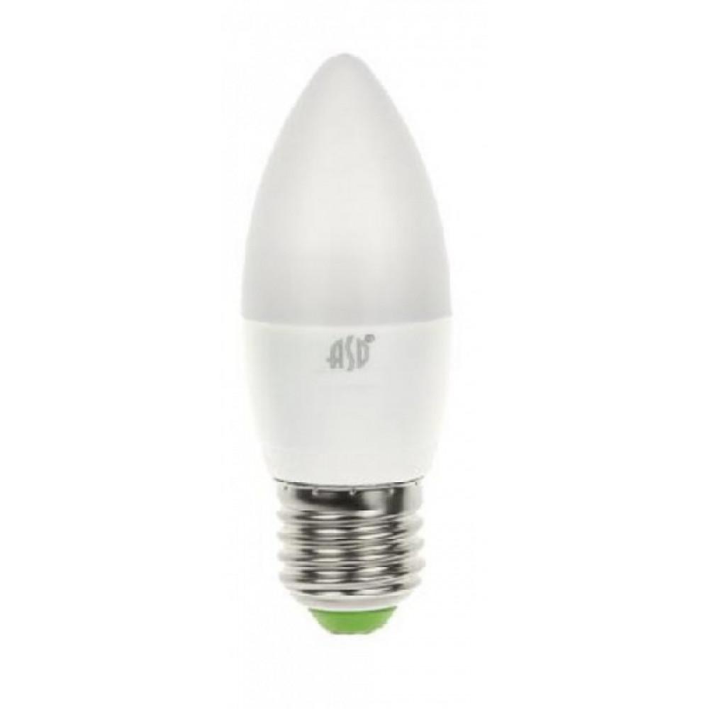 Лампа диодная свеча 6Вт Е27 4000К 480Лм InHome (10)