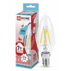Лампа филамент свеча 7Вт Е14 4000К 630Лм InHome (10)
