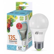 Лампа диодная A60 15Вт Е27 4000К 1350Лм ASD (10)