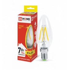 Лампа филамент свеча 7Вт Е27 3000К 630Лм InHome (10)