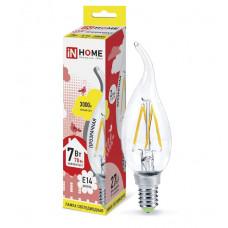 Лампа филамент свеча на ветру 7Вт Е14 3000К 630Лм InHome (10)