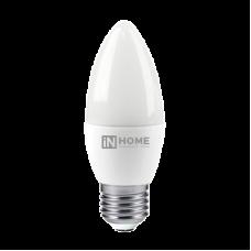 Лампа диодная свеча 8Вт Е27 6500К 600Лм InHome (10)