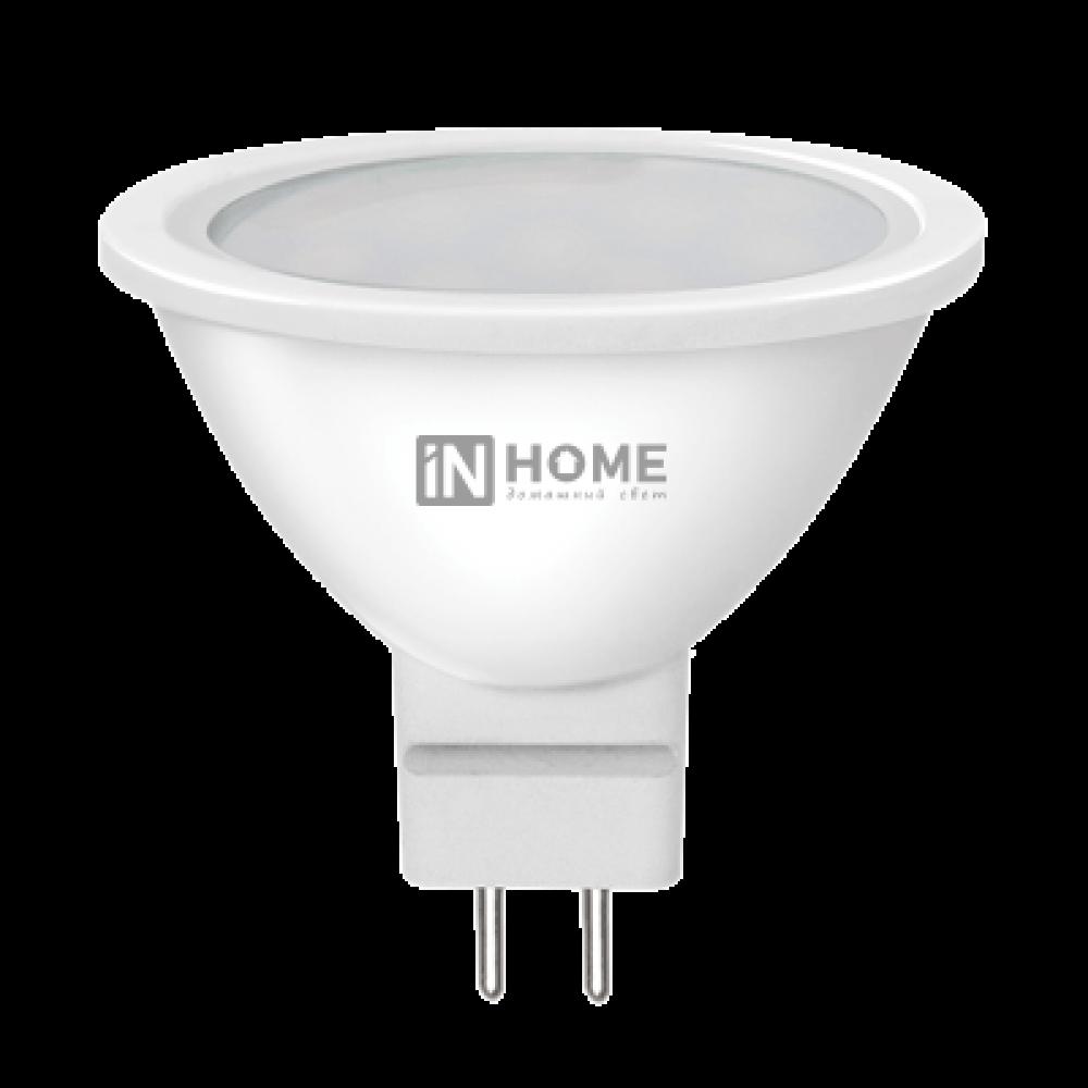Лампа диодная MR16 GU5.3 5.5Вт 4000К 400Лм InHome ECO груп. упак. 5шт (100)
