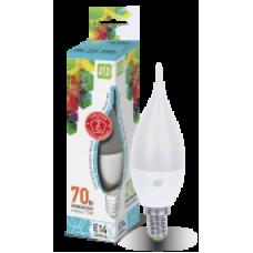 Лампа диодная свеча на ветру 7.5Вт Е14 4000К 675Лм ASD (10)