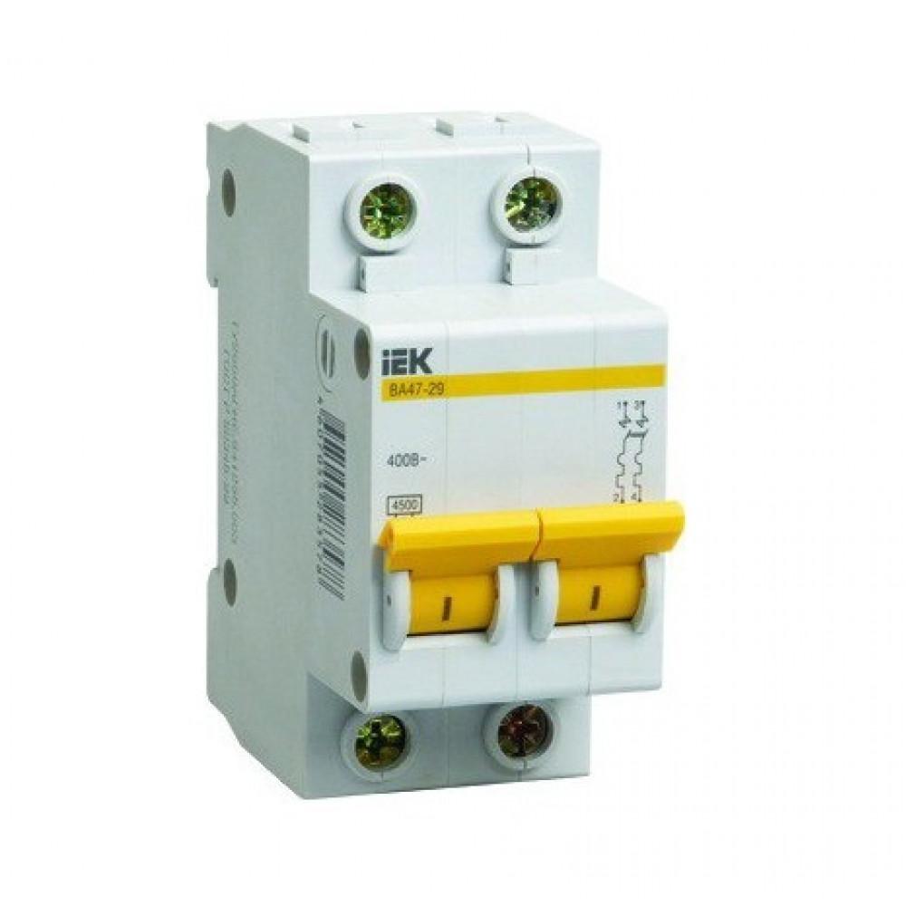 Выключатель автоматический 2P 32A 4,5kA B IEK BA47-29 (6/72)