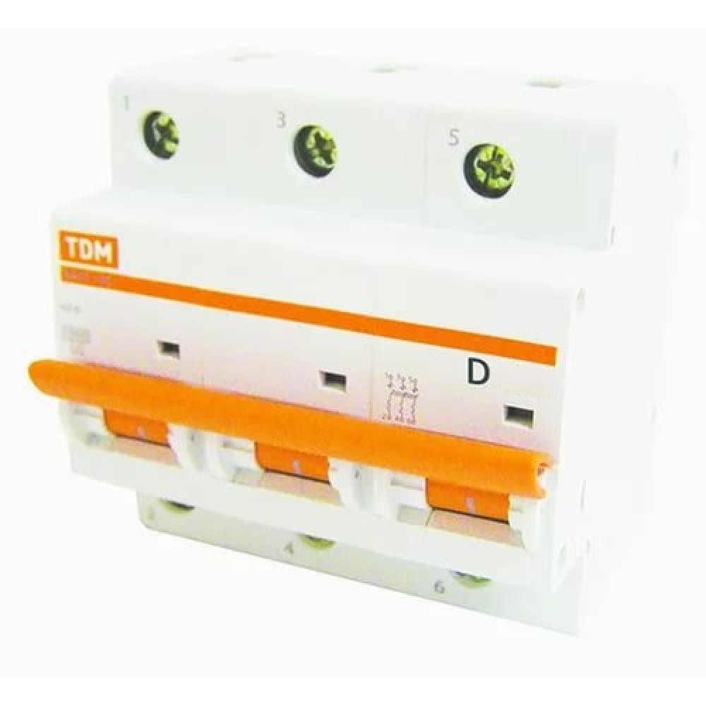 Выключатель автоматический 3P 16A 10kA D TDM BA47-100 (2/24)