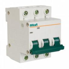 Выключатель автоматический 3P 40A 4,5kA C Домовой ВА-63 (4)