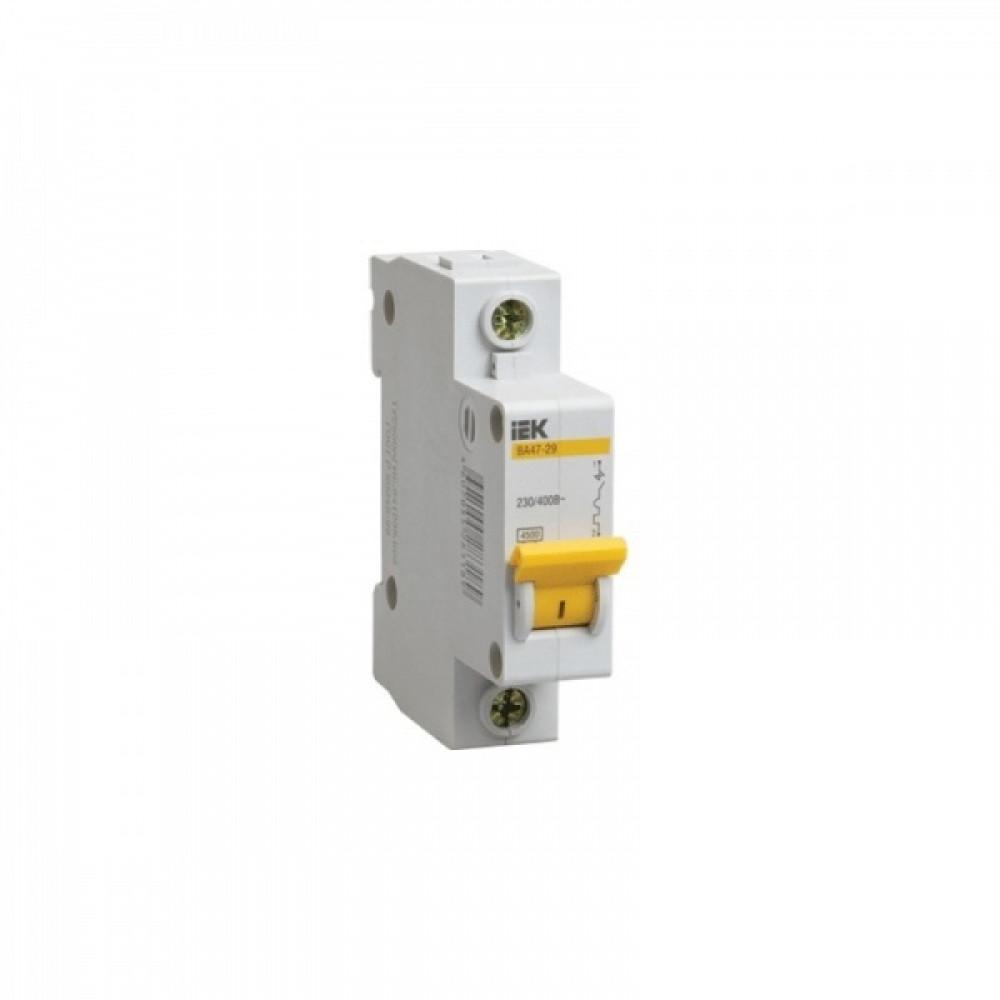 Выключатель автоматический 1P 10A 4,5kA D IEK BA47-29 (12/144)