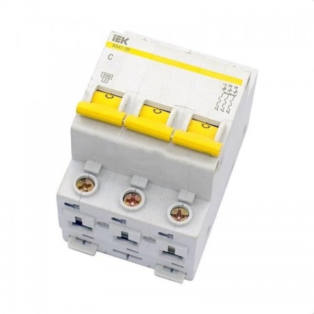 Выключатель автоматический 3P 10A 4,5kA C IEK BA47-29 (4/48)