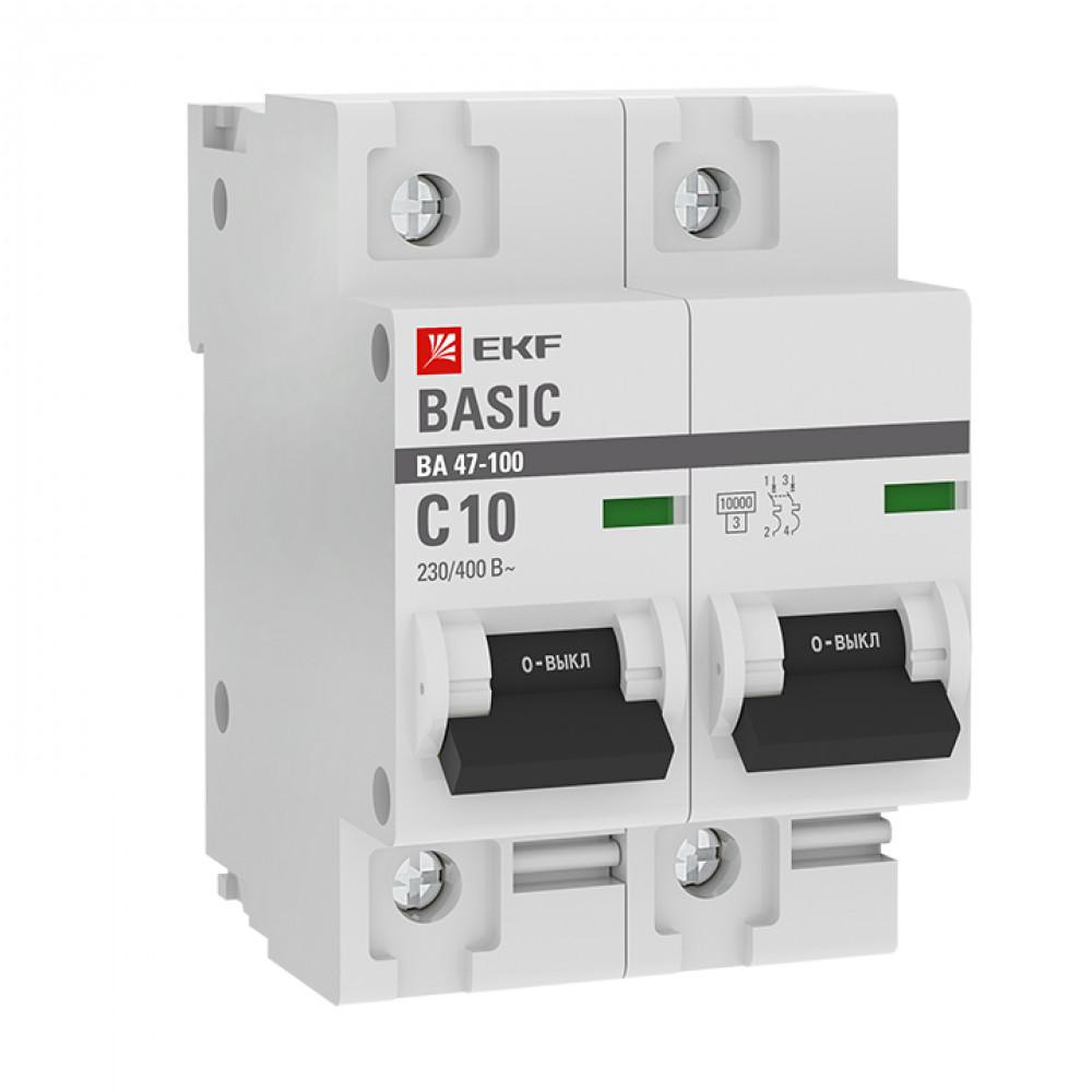 Выключатель автоматический 2P 125A 10kA C EKF ВА47-100 (6)