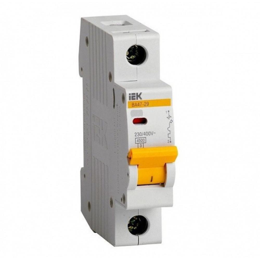 Выключатель автоматический 1P 16A 4,5kA D IEK BA47-29 (12/144)