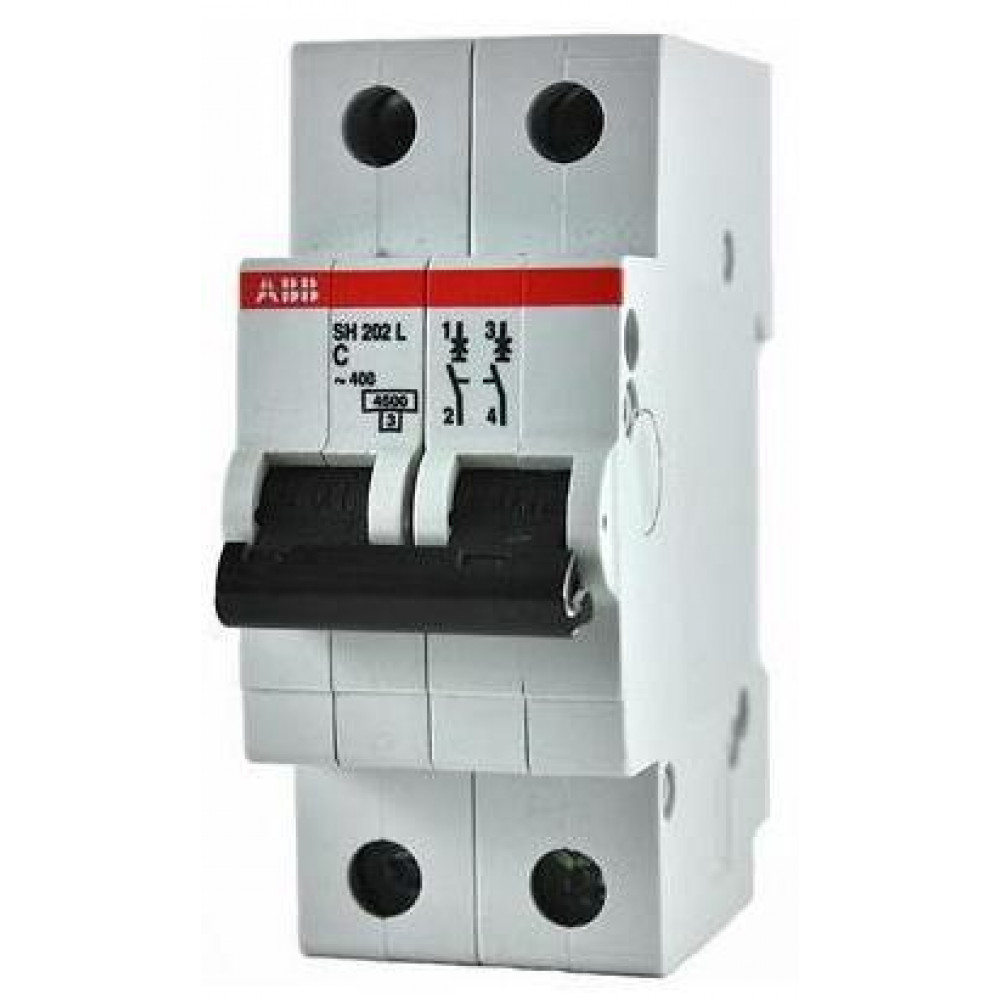 Выключатель автоматический 2P 50А 4,5kA C ABB SH202L (5)