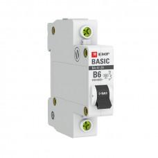 Выключатель автоматический 1P 10A 4,5kA C EKF ВА47-29 Basic (12/120)