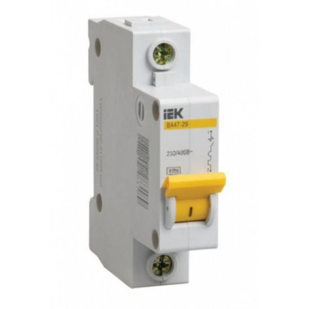 Выключатель автоматический 1P 10A 4,5kA B IEK BA47-29 (12/144)