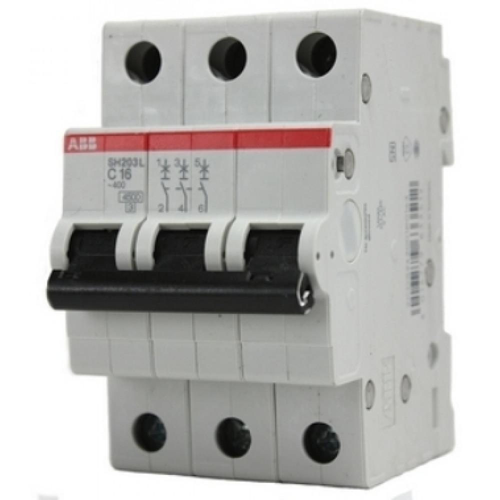 Выключатель автоматический 3P 10А 4,5kA C ABB SH203L (3)