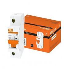 Выключатель автоматический 1P 100A 10kA D TDM BA47-100 (6/72)