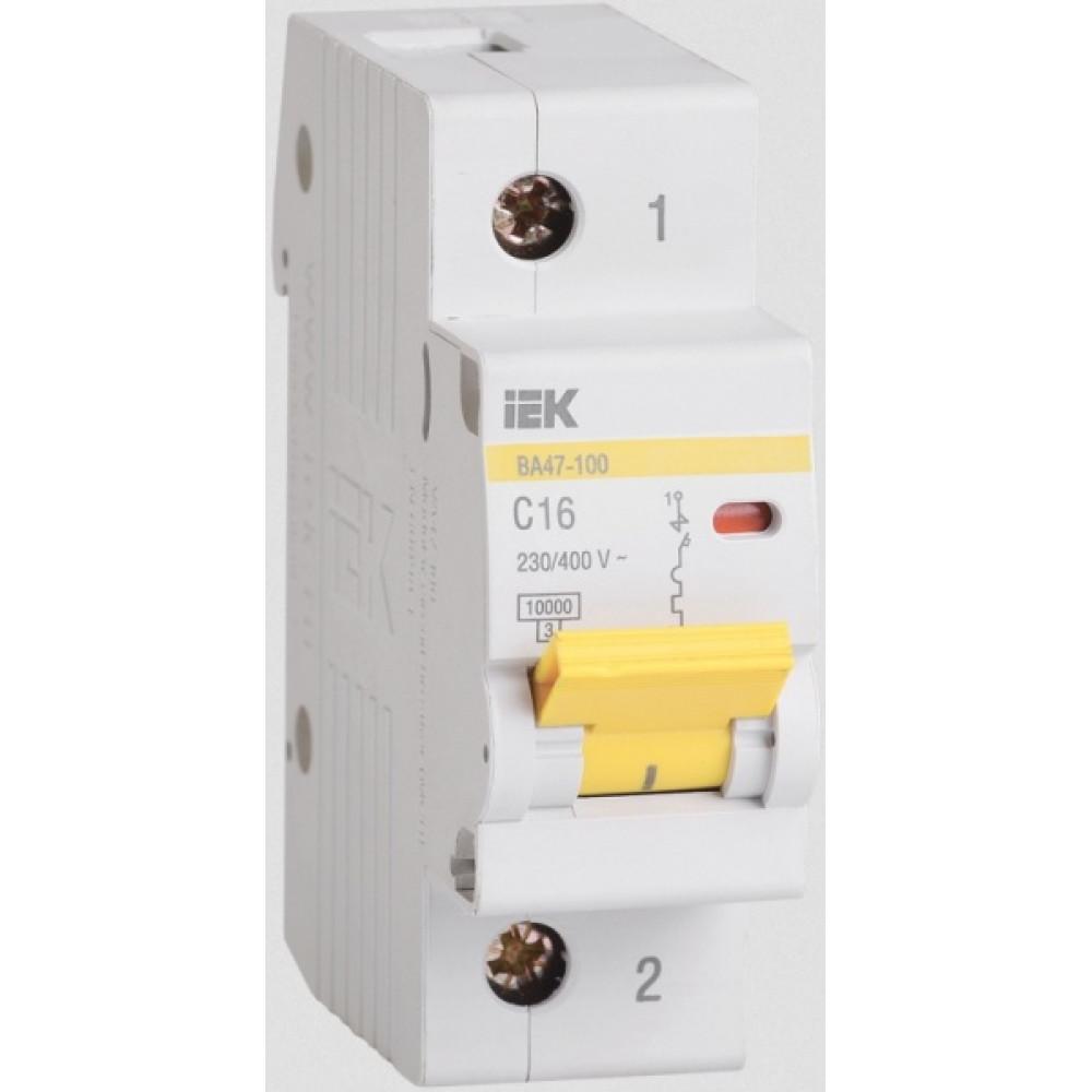 Выключатель автоматический 1P 63A 10kA C IEK BA47-100 (12/120)
