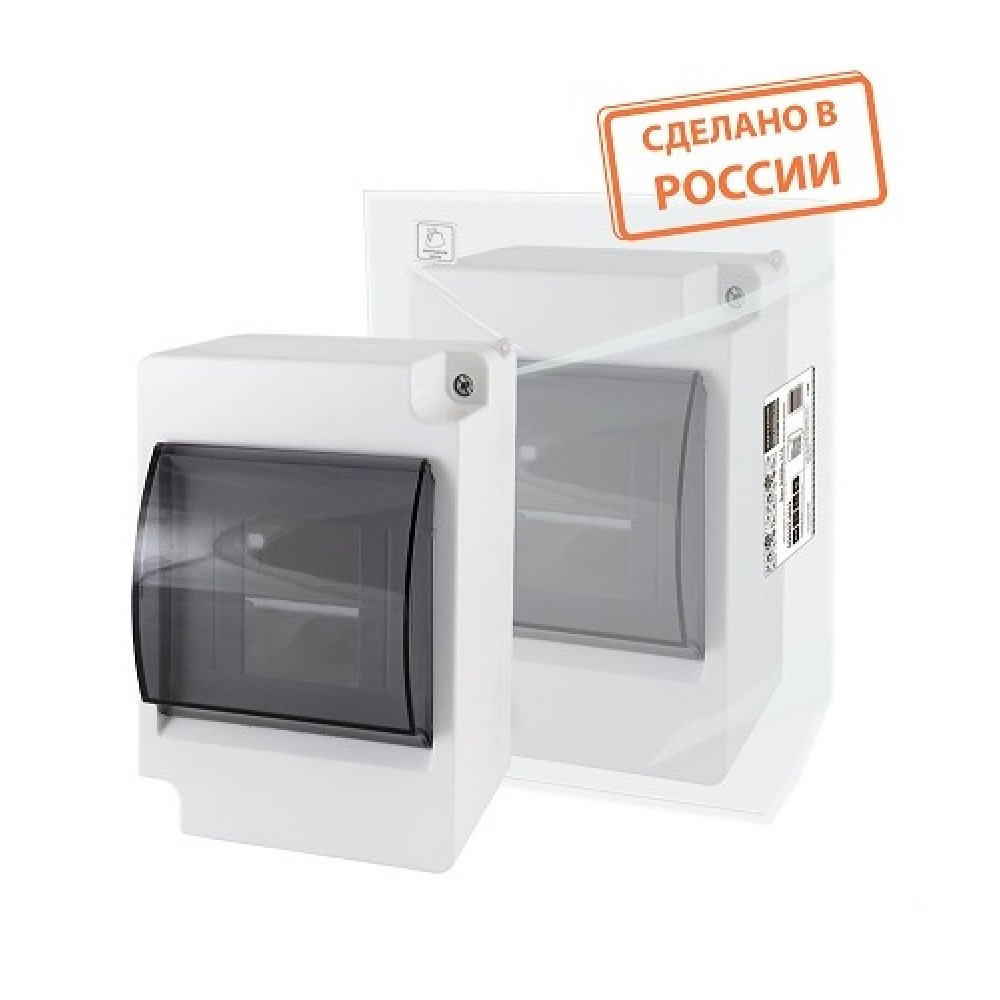 Бокс КМПн 2/4 IP30 140x97x80мм прозрачная крышка TDM Народный (48)