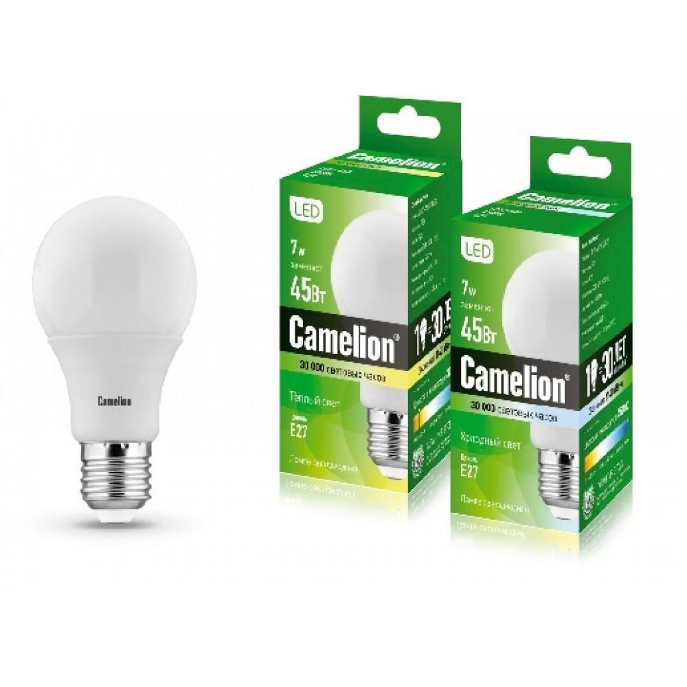 Лампа диодная A60 7Вт Е27 4500К 550Лм Camelion (10)