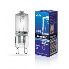 Лампа галогенная G9 25Вт 220В капсула Camelion прозрачная (100)