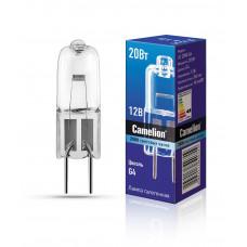 Лампа галогенная JC 12В 20Вт G4 капсула Camelion (100)