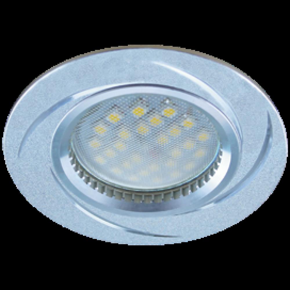 Ecola MR16 DL3181 GU5.3 Светильник встр. литой (скрытый крепеж лампы) матовый Хром/Алюм Вихрь 23x78