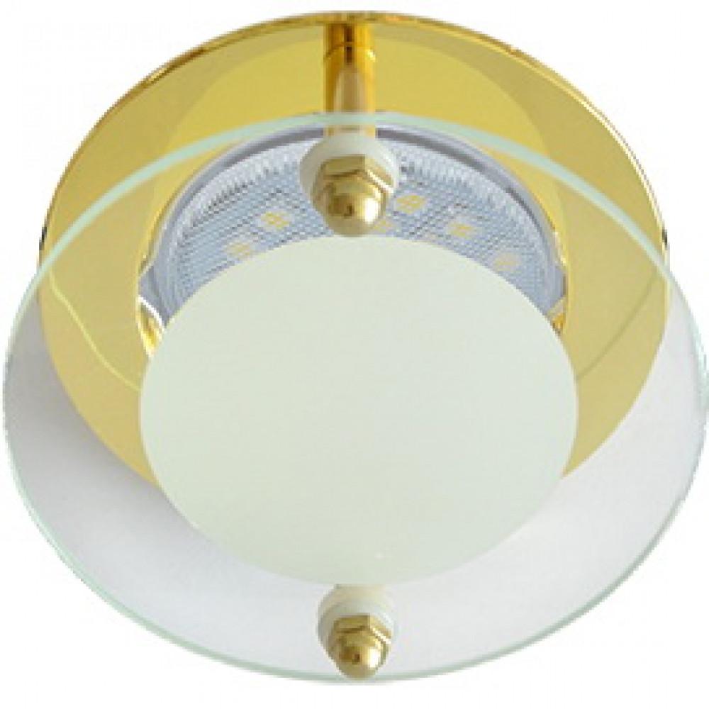 Ecola MR16 DL201 GU5.3 Glass Круг со стеклом Прозрачный и Матовый / Золото 45x80
