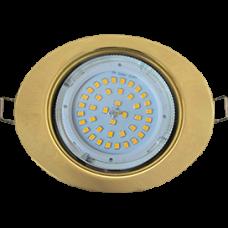 Ecola GX53 FT3238 светильник встр. без рефл. Эллипс золото 41x126x106 (к+)