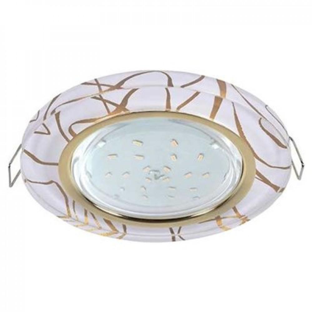 Ecola GX53 H4 Glass глубокий Стекло Круг золото - золото на белом 44 x126 (к+)