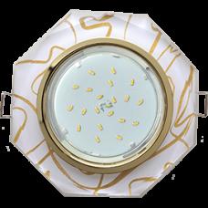 Ecola GX53 H4 5312 Glass Стекло 8-угольник с прямыми гранями золото - золото на белом 38x133 (к+)
