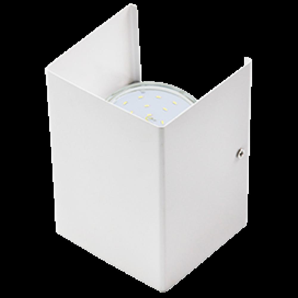 Ecola GX53-N52 светильник настенный бра прямоугольный матовый белый 2* GX53 100х140х90 (1 из цв. уп.