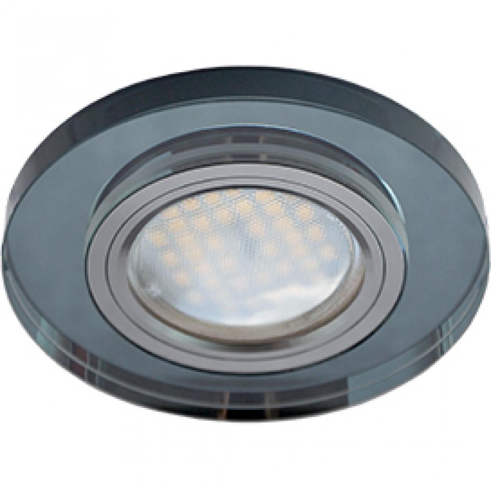 Ecola MR16 DL1650 GU5.3 Glass Стекло Круг Черный / Черный хром 25x95